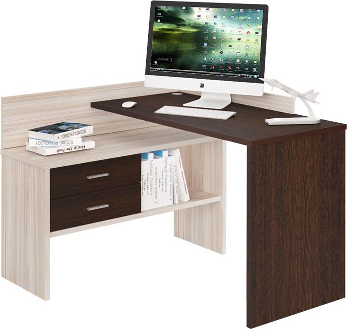 компьютерный стол угловой с тумбой скм 120 купить в интернет