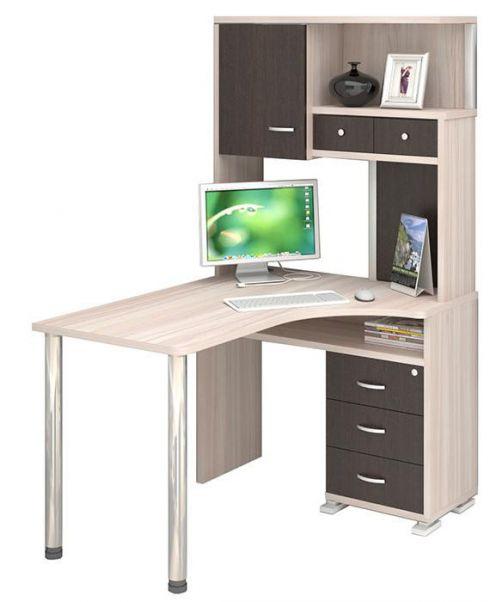 стол компьютерный ср 130 угловой с надстройкой